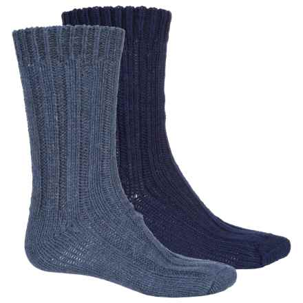 Pajar Thick Wool-Blend Socks - 2-Pack, Crew (For Men) in Navy/Blue Grey - Overstock