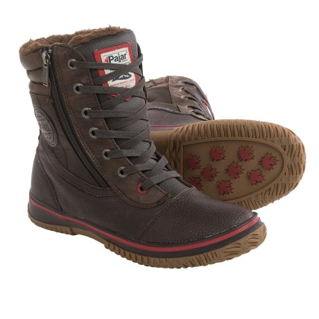 Pajar Tour Leather Snow Boots - Waterproof, Insulated (For Men) in Brown