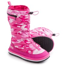 Pakems Cortina Snow Boots (For Little and Big Girls) in Pink Camo - Closeouts