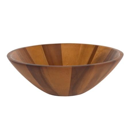 "Palate and Plate Acacia Wood Salad Bowl - 12.5"" in See Photo"