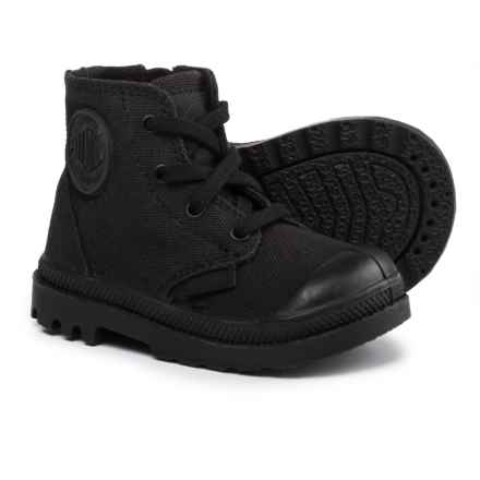 Palladium Pampa High-Top Sneakers (For Infant and Toddler Boys) in Black - Closeouts