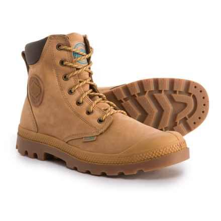 Palladium Pampa Sport Cuff Rain Boots - Nubuck (For Men) in Amber Gold/Mid Gum - Closeouts