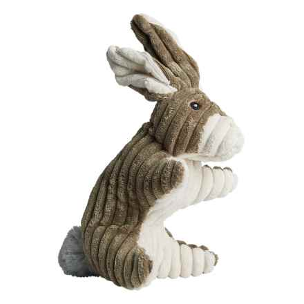 Pally Paws Corduroy Woodland Sit Up Dog Toys in Rabbit - Closeouts