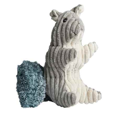 Pally Paws Corduroy Woodland Sit Up Dog Toys in Squirrel - Closeouts