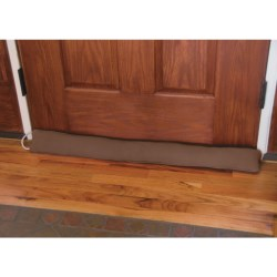 Palmilla Home Furnishings Draft Blocker - Faux Suede in Red