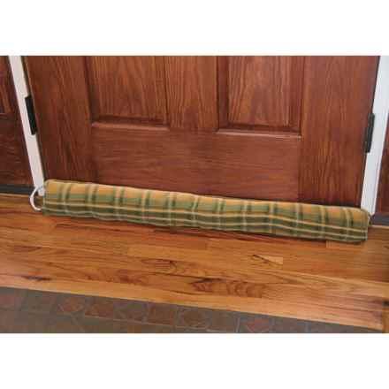 "Palmilla Home Furnishings Draft Blocker - Fleece, 36x4"" in Green Plaid - Closeouts"