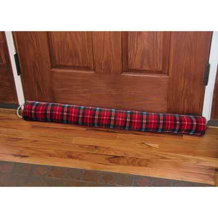 "Palmilla Home Furnishings Draft Blocker - Fleece, 36x4"" in Red Plaid - Closeouts"
