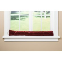 Palmilla Home Furnishings Draft Blocker - Ribbed Corduroy in Burgundy - Overstock