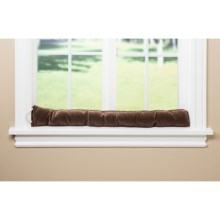 Palmilla Home Furnishings Draft Blocker - Ribbed Corduroy in Chocolate - Overstock