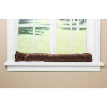 Palmilla Home Furnishings Draft Blocker - Ribbed Corduroy in Chocolate - Overstock