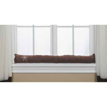 Palmilla Home Furnishings Embroidered Draft Blocker - Faux Suede in Chocolate - Overstock
