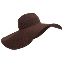 Panama Jack Big-Brim Shapable Sun Hat (For Women) in Chocolate - Closeouts