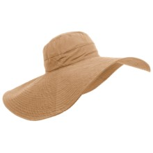 Panama Jack Big-Brim Shapable Sun Hat (For Women) in Khaki - Closeouts