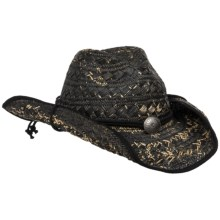 Panama Jack Fancy Weave Cowboy Hat (For Men and Women) in Black - 2nds