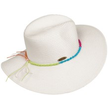 Panama Jack Floppy Brim Sun Hat - UPF 50+ (For Women) in White - Closeouts