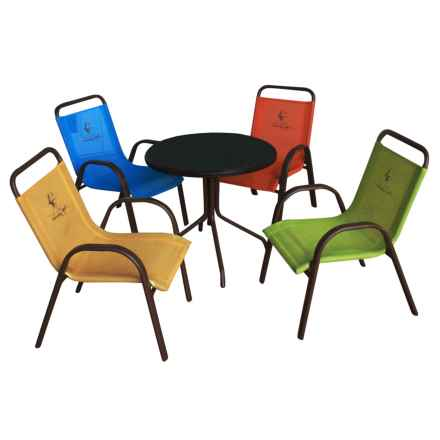 Panama Jack Kids Table and Chair Set - 5-Piece in See Photo - Closeouts