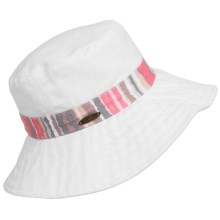 Panama Jack Packable Boonie Hat (For Women) in White/Coral - Closeouts