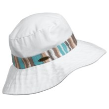 Panama Jack Packable Boonie Hat (For Women) in White/Turquoise - Closeouts
