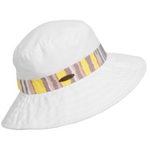 Panama Jack Packable Boonie Hat (For Women) in White/Yellow - Closeouts