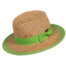 Panama Jack Paper Braid Safari Hat - UPF 50+ (For Women) in Lime - Closeouts