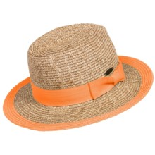 Panama Jack Paper Braid Safari Hat - UPF 50+ (For Women) in Orange - Closeouts