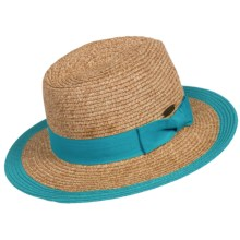 Panama Jack Paper Braid Safari Hat - UPF 50+ (For Women) in Turquoise - Closeouts