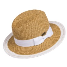 Panama Jack Paper Braid Safari Hat - UPF 50+ (For Women) in White - Closeouts