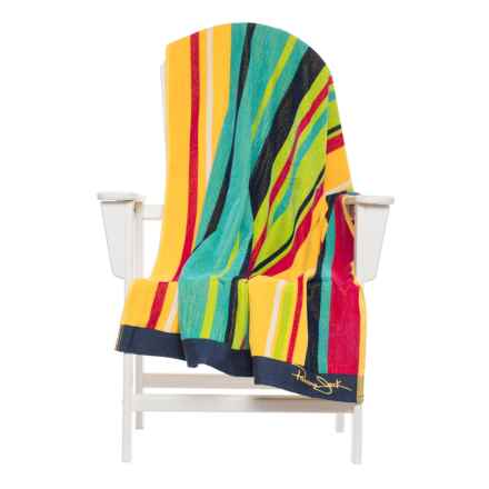 "Panama Jack Surf Beach Towel - 40x70"" in Yellow/Blue - Closeouts"