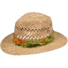 Panama Jack Tropical Straw Safari Hat (For Men and Women) in Natural - Closeouts