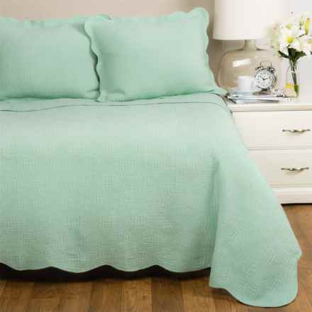 Panama Jack Wave Quilt Set - King in Seafoam - Closeouts