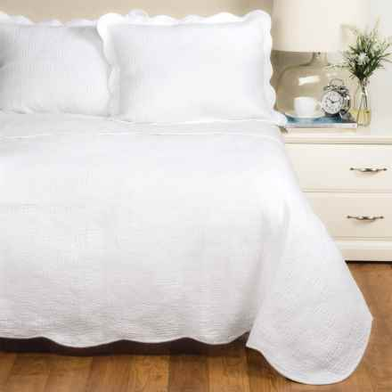 Panama Jack Wave Quilt Set - Queen in White - Closeouts