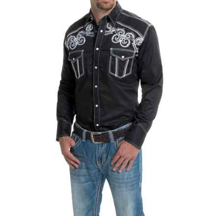 Panhandle 90 Proof Embroidered Poplin Western Shirt - Snap Front, Long Sleeve (For Men) in Black - Closeouts