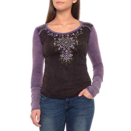 Panhandle Aztec Shirt - Long Sleeve (For Women) in Grey - Closeouts