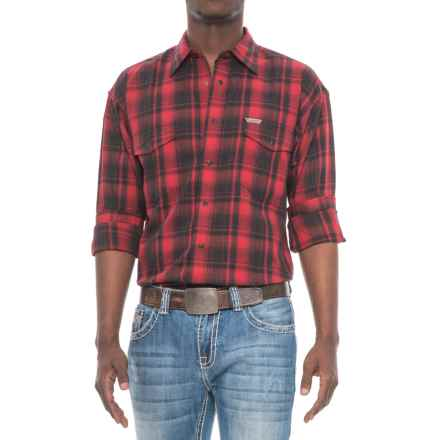 Panhandle Bandera Shirt - Snap Front, Long Sleeve (For Men) in Black/Red - Overstock