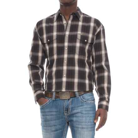 Panhandle Bandera Shirt - Snap Front, Long Sleeve (For Men) in Black/Tan - Overstock
