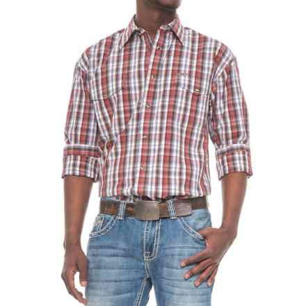 Panhandle Bandera Shirt - Snap Front, Long Sleeve (For Men) in Brown/Red - Overstock