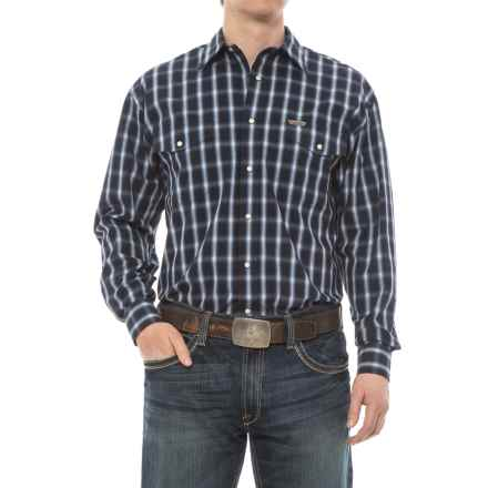 Panhandle Bandera Shirt - Snap Front, Long Sleeve (For Men) in Navy/White - Overstock