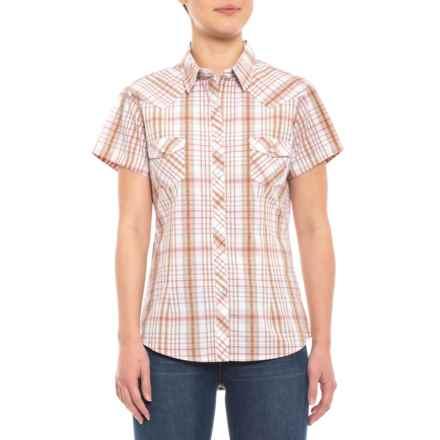 3d8df95bb8420b Panhandle Cactus Dobby Plaid Snap Shirt - Short Sleeve (For Women) in  Cactus Dobby