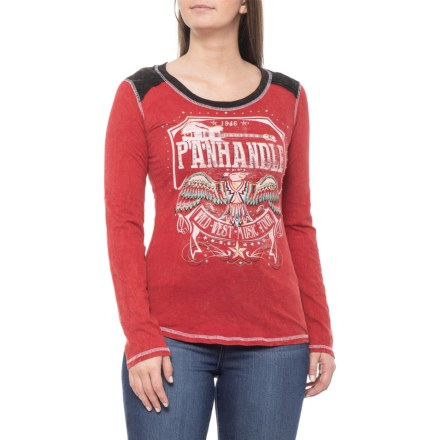 233b6a34 Panhandle Chili Pepper Graphic Shirt - Long Sleeve (For Women) in Chili  Pepper -