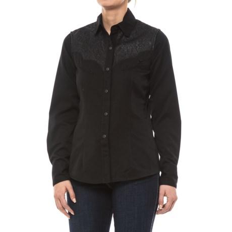 Panhandle Heart Breaker Shirt - Snap Front, Long Sleeve (For Women) in Black