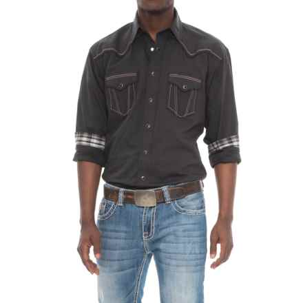 Panhandle Iridescent Micro Twill Shirt - Snap Front, Long Sleeve (For Men) in Black - Overstock