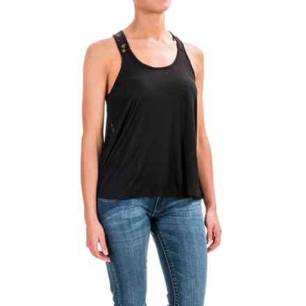 Panhandle Lace Racerback Swing Tank Top (For Women) in Black - Closeouts