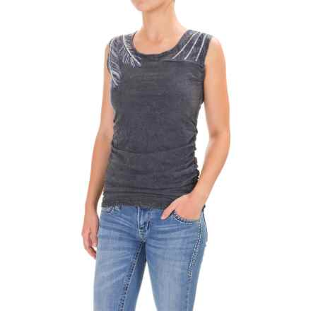 Panhandle Metallic Sequin Shirt - Sleeveless (For Women) in Light Navy - Closeouts