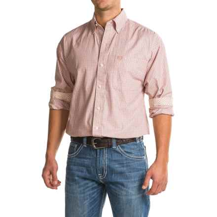 Panhandle Printed Shirt - Long Sleeve (For Men) in Peach Print - Closeouts