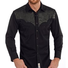Panhandle Retro Heart Breaker Western Shirt - Snap Front, Long Sleeve (For Men) in Black - Closeouts