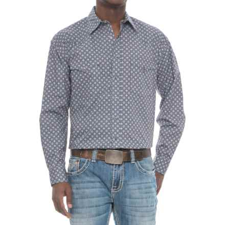 Panhandle Rough Stock Antique Print Shirt - Snap Front, Long Sleeve (For Men) in Grey/White Multi - Overstock