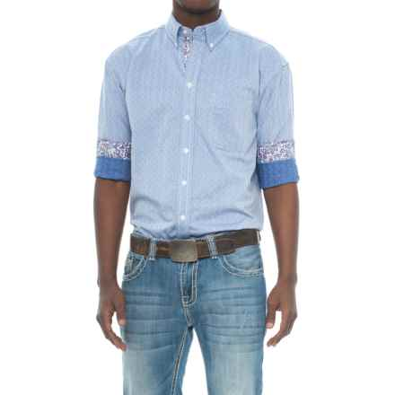 Panhandle Rough Stock BD Herringbone Shirt - Long Sleeve (For Men) in Blue - Closeouts