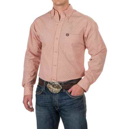 Panhandle Select Coral Shirt - Long Sleeve (For Men) in Coral Print - Closeouts