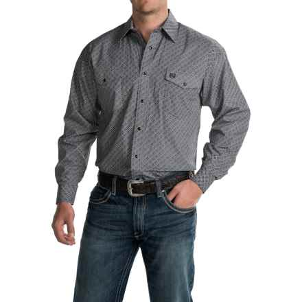 Panhandle Select Diamond-Print Shirt - Long Sleeve (For Men) in Black Print - Closeouts