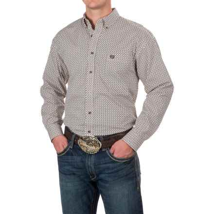 Panhandle Select Diamond Print Shirt - Long Sleeve (For Men) in Brown - Closeouts